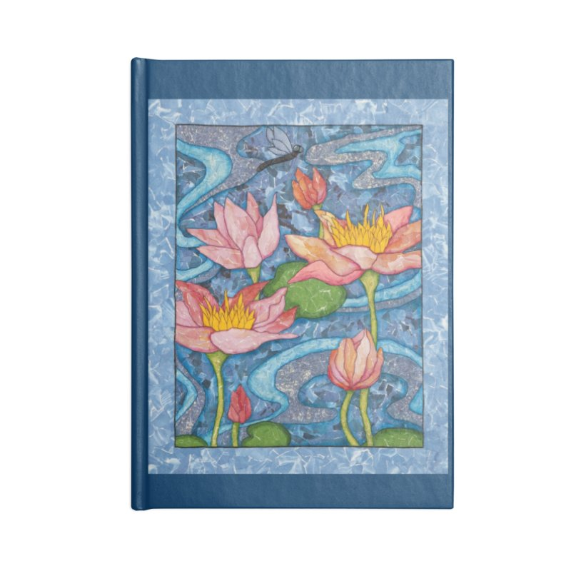 Water Lilies Accessories Notebook by HM Artistic Creations Artist Shop