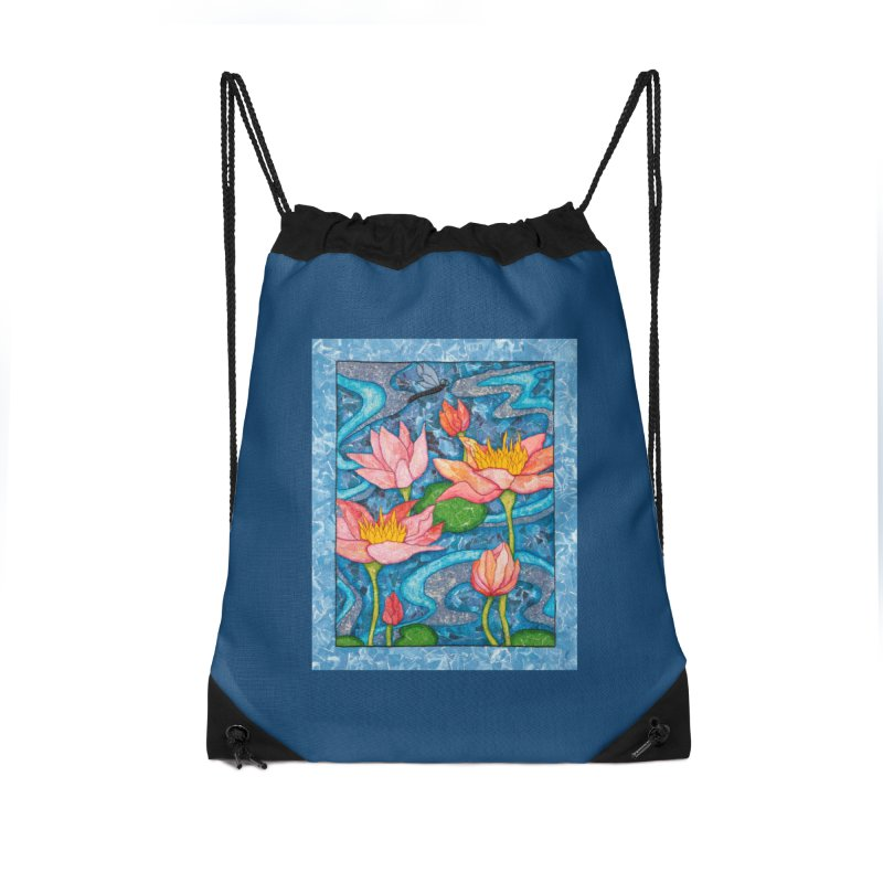 Water Lilies Accessories Bag by HM Artistic Creations Artist Shop