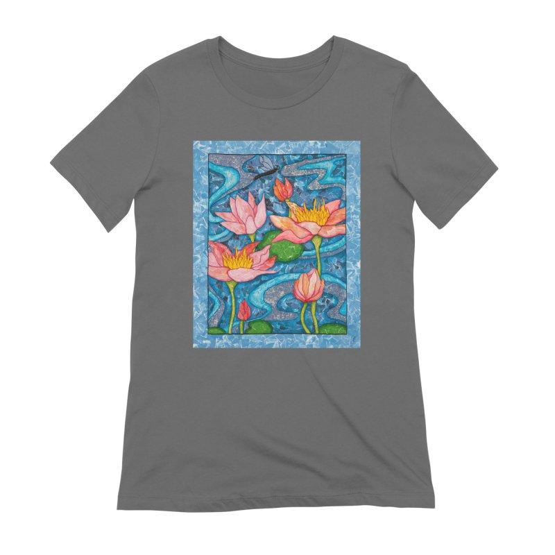 Water Lilies Women's T-Shirt by HM Artistic Creations Artist Shop