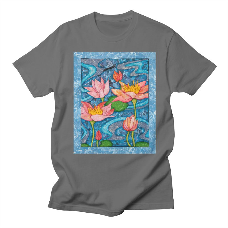 Water Lilies Men's T-Shirt by HM Artistic Creations Artist Shop