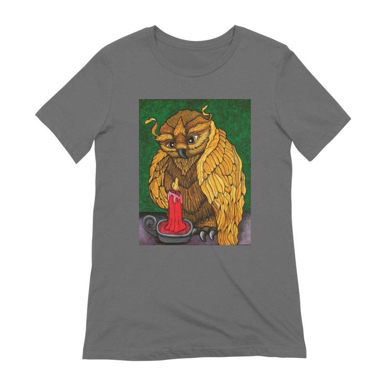 Grandmother Owl Women's T-Shirt by HM Artistic Creations Artist Shop