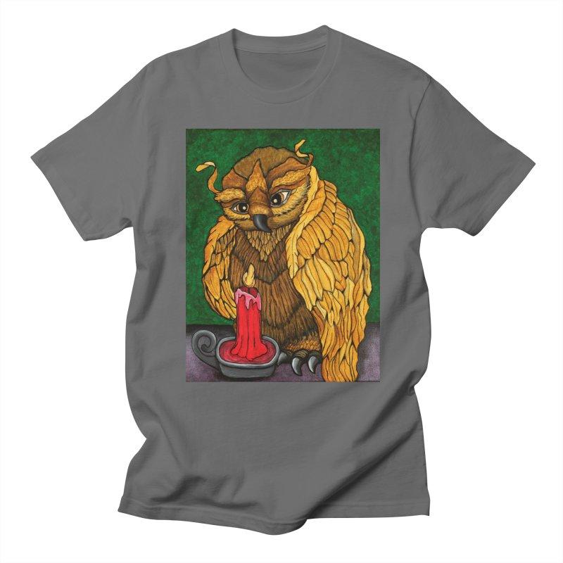 Grandmother Owl Men's T-Shirt by HM Artistic Creations Artist Shop