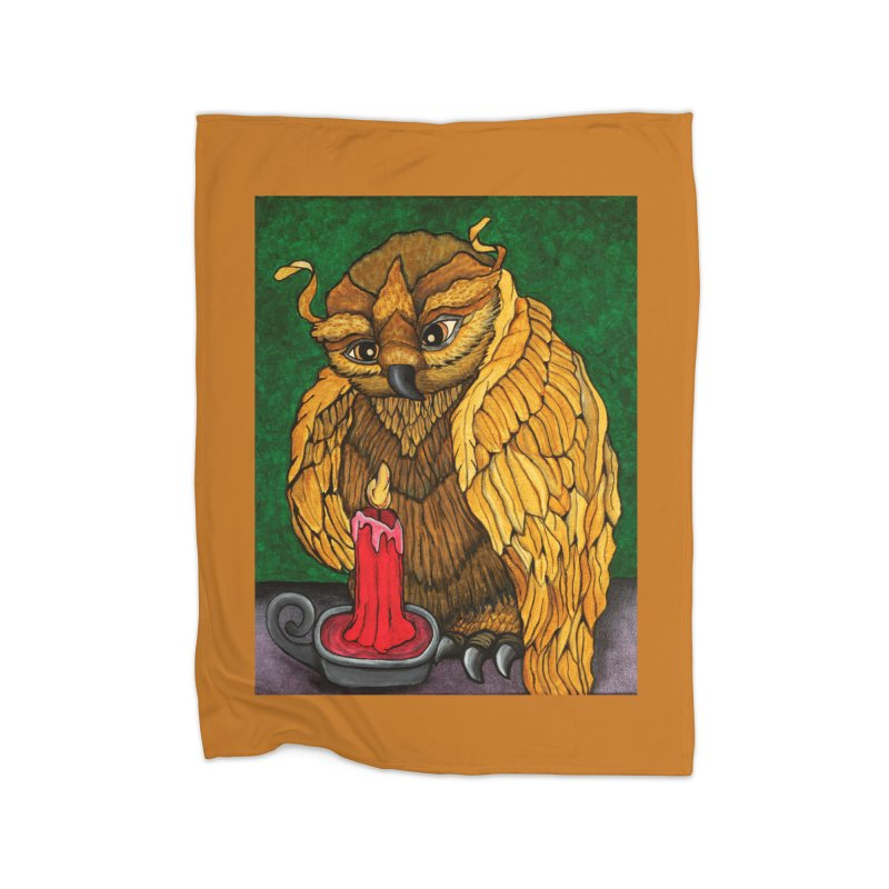 Grandmother Owl Home Blanket by HM Artistic Creations Artist Shop