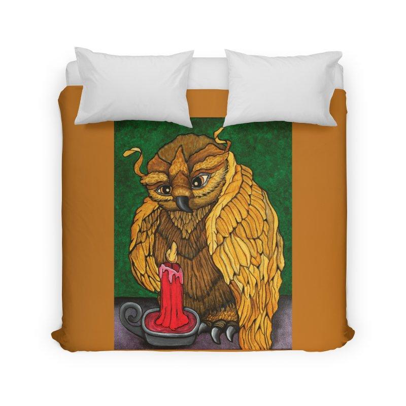Grandmother Owl Home Duvet by HM Artistic Creations Artist Shop