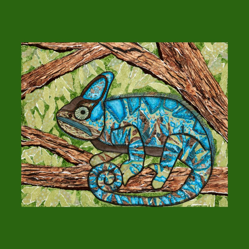 Chameleon Home Blanket by HM Artistic Creations Artist Shop