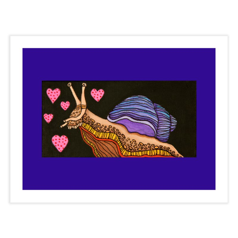 Snail in Love-Right Home Fine Art Print by HM Artistic Creations Artist Shop
