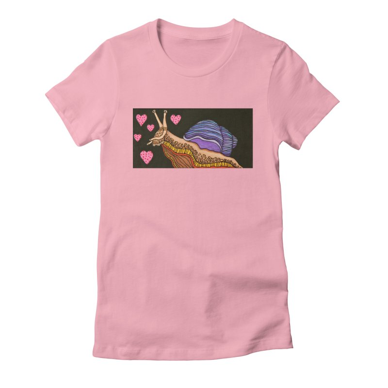 Snail in Love-Right Women's T-Shirt by HM Artistic Creations Artist Shop