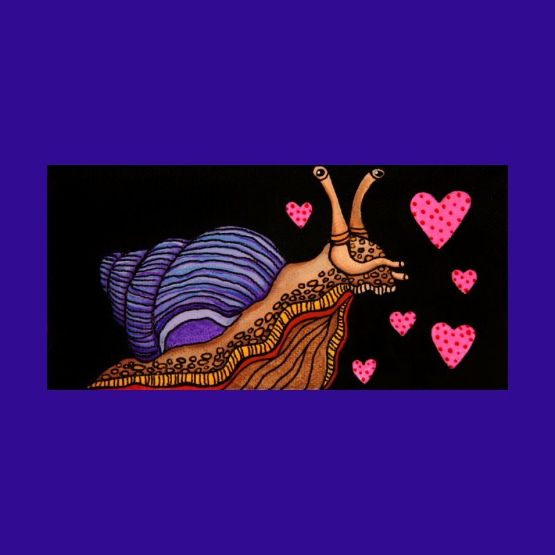 Snail in Love-Left Women's T-Shirt by HM Artistic Creations Artist Shop
