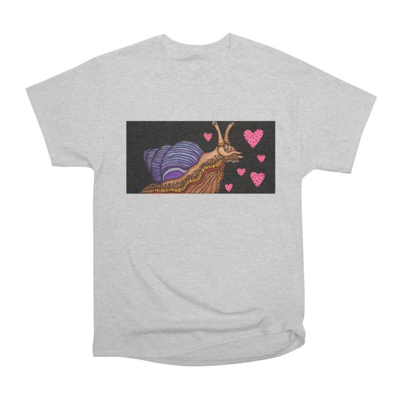 Snail in Love-Left Men's T-Shirt by HM Artistic Creations Artist Shop