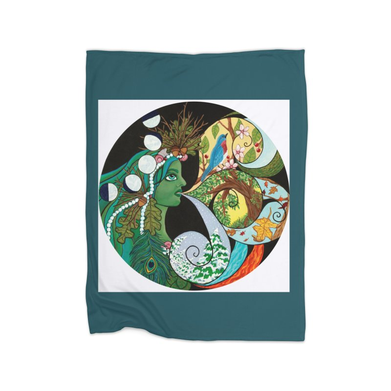 Mother Nature Home Blanket by HM Artistic Creations Artist Shop