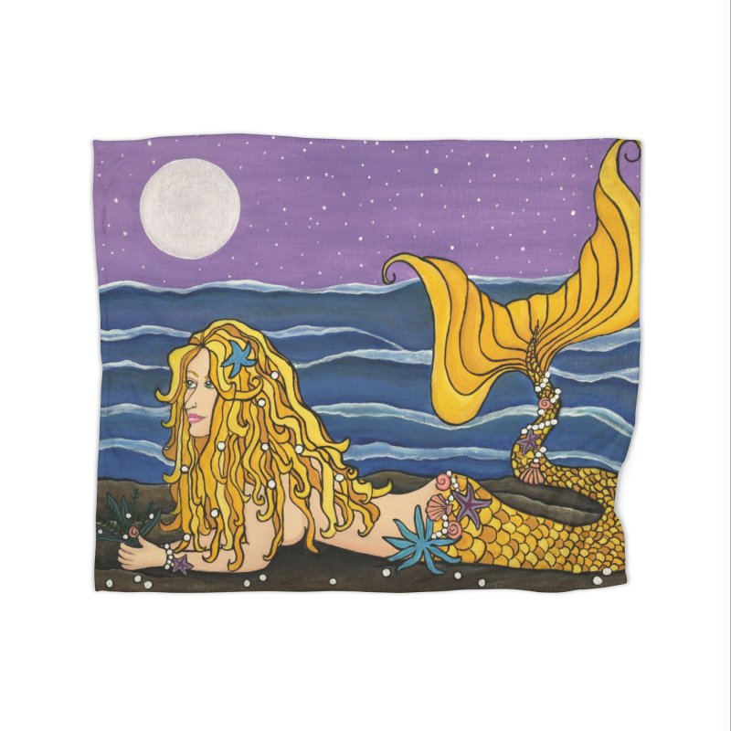 Mermaid Home Blanket by HM Artistic Creations Artist Shop