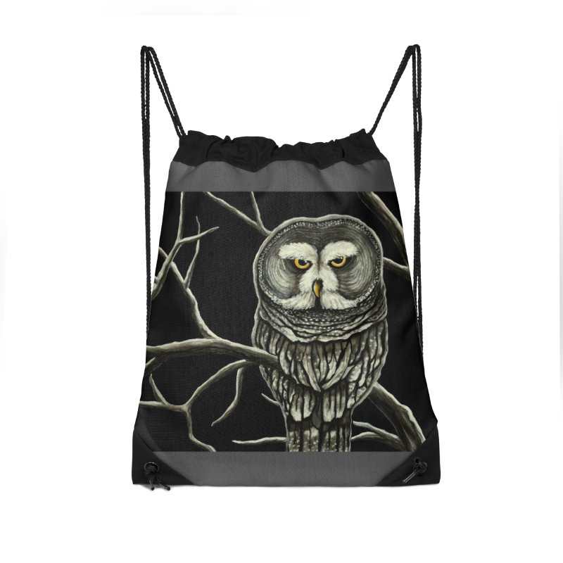 Grey Owl Accessories Bag by HM Artistic Creations Artist Shop