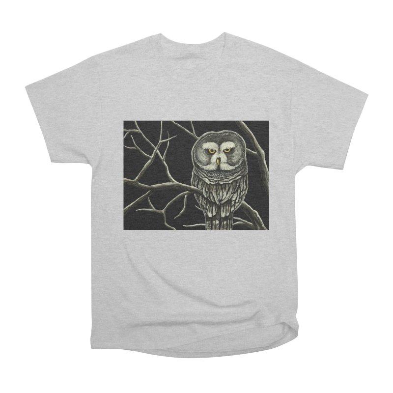 Grey Owl Men's T-Shirt by HM Artistic Creations Artist Shop