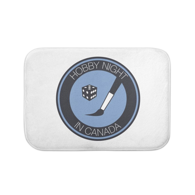 Hobby Night Logo Home Bath Mat by Hobby Night in Canada Podcast
