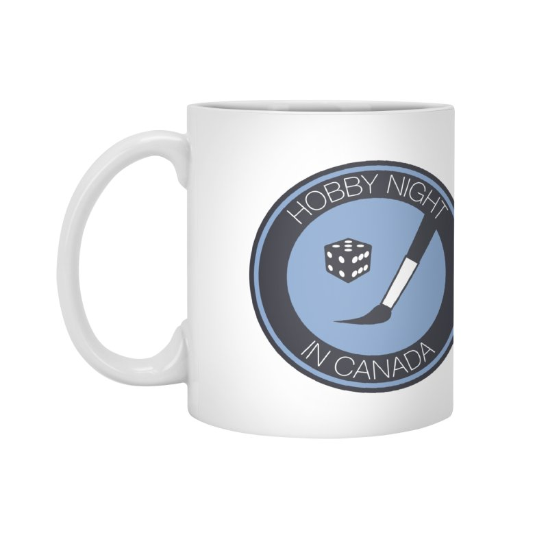 Hobby Night Logo Accessories Mug by Hobby Night in Canada Podcast