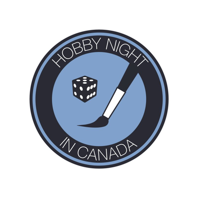 Hobby Night Logo Women's V-Neck by Hobby Night in Canada Podcast