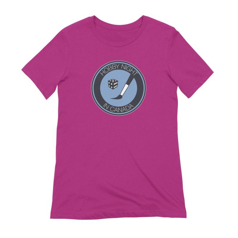 Hobby Night Logo Women's Extra Soft T-Shirt by Hobby Night in Canada Podcast