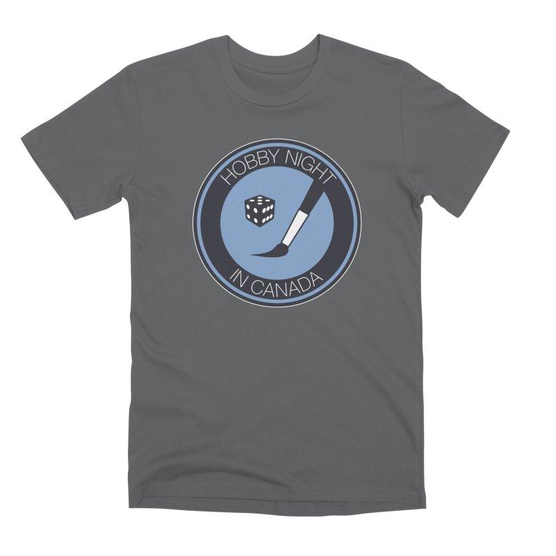 Hobby Night Logo Men's Premium T-Shirt by Hobby Night in Canada Podcast