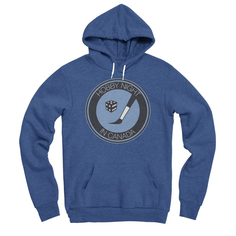 Hobby Night Logo Men's Sponge Fleece Pullover Hoody by Hobby Night in Canada Podcast