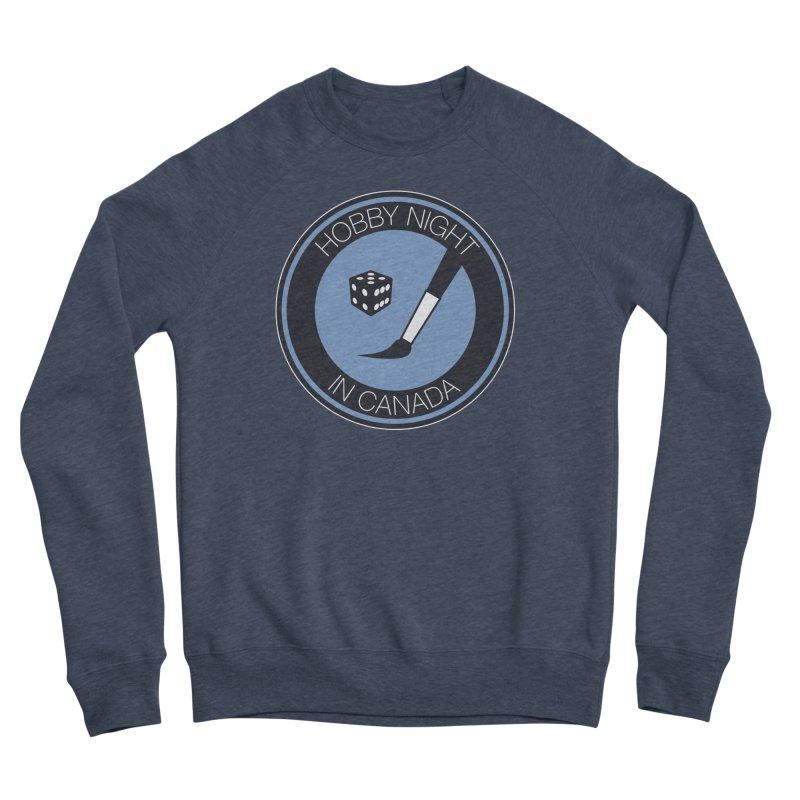 Hobby Night Logo Men's Sponge Fleece Sweatshirt by Hobby Night in Canada Podcast
