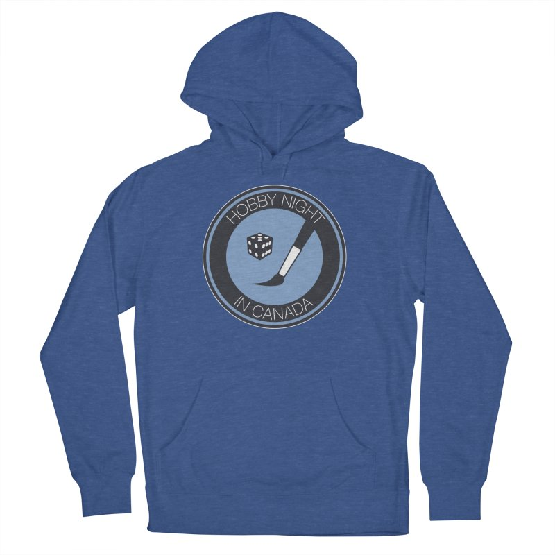 Hobby Night Logo Men's French Terry Pullover Hoody by Hobby Night in Canada Podcast