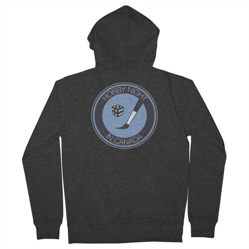 Hobby Night Logo Men's French Terry Zip-Up Hoody by Hobby Night in Canada Podcast