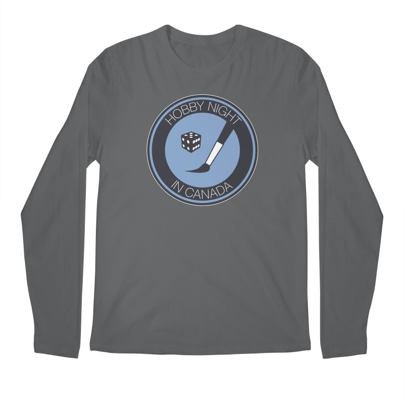 Hobby Night Logo Men's Longsleeve T-Shirt by Hobby Night in Canada Podcast