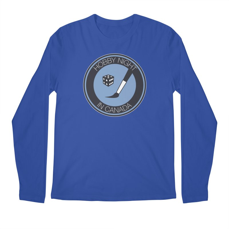Hobby Night Logo Men's Regular Longsleeve T-Shirt by Hobby Night in Canada Podcast