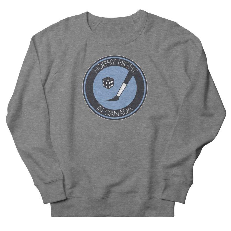 Hobby Night Logo Men's French Terry Sweatshirt by Hobby Night in Canada Podcast