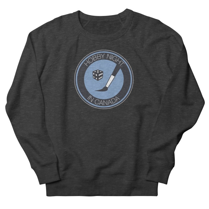 Hobby Night Logo Men's French Terry Sweatshirt by Hobby Night in Canada Podcast