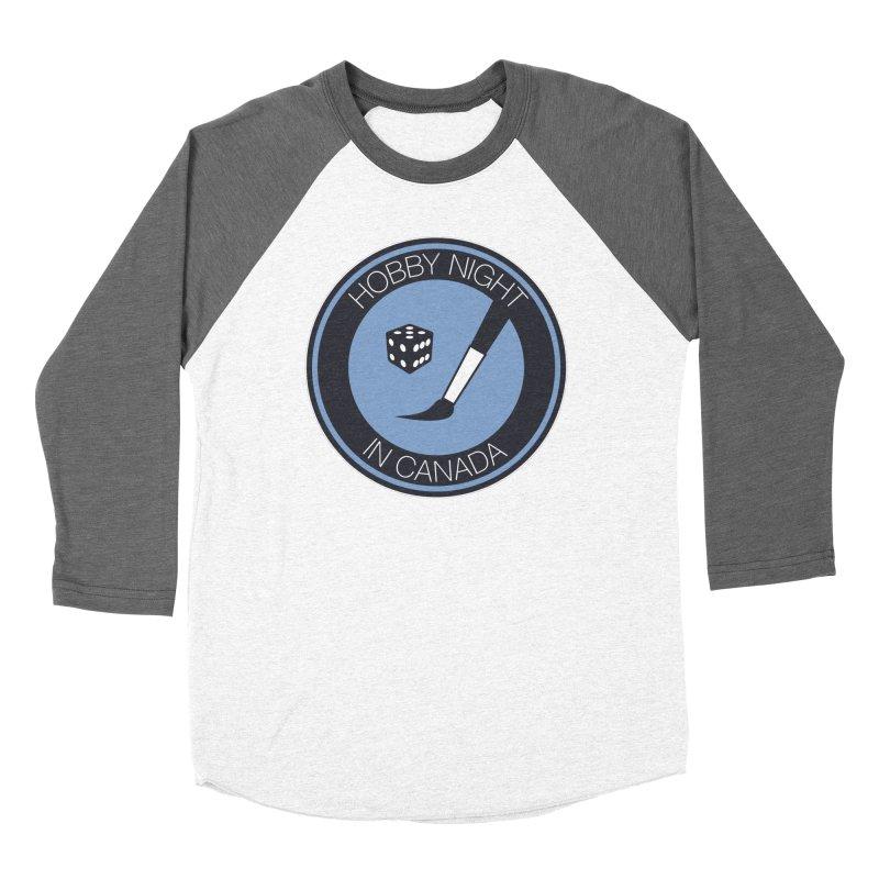 Hobby Night Logo Men's Baseball Triblend Longsleeve T-Shirt by Hobby Night in Canada Podcast