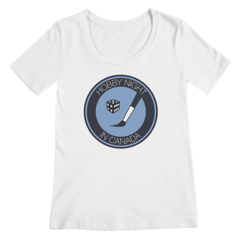 Hobby Night Logo Women's Regular Scoop Neck by Hobby Night in Canada Podcast