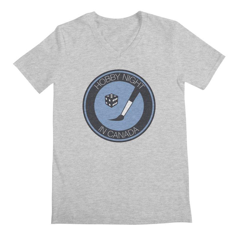 Hobby Night Logo Men's Regular V-Neck by Hobby Night in Canada Podcast