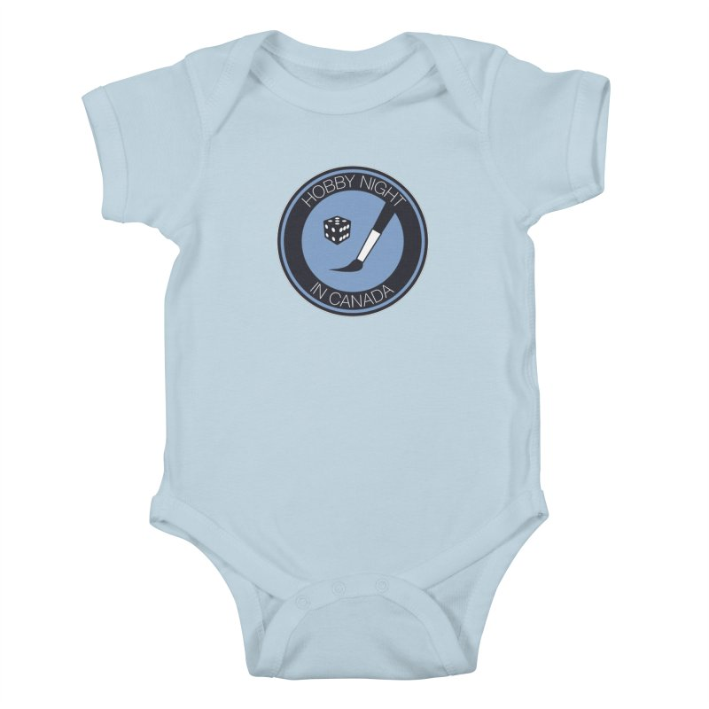 Hobby Night Logo Kids Baby Bodysuit by Hobby Night in Canada Podcast