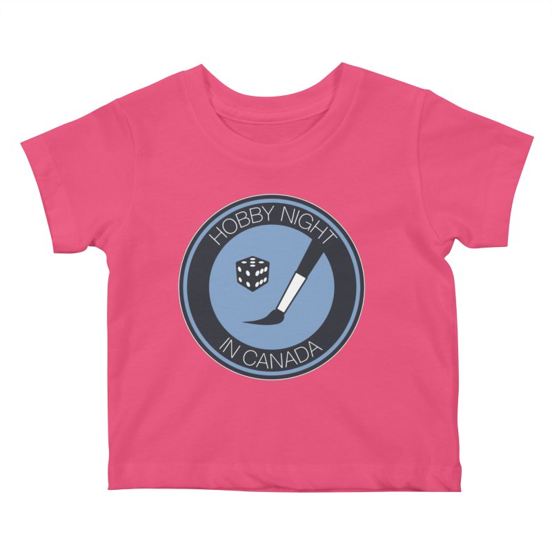 Hobby Night Logo Kids Baby T-Shirt by Hobby Night in Canada Podcast