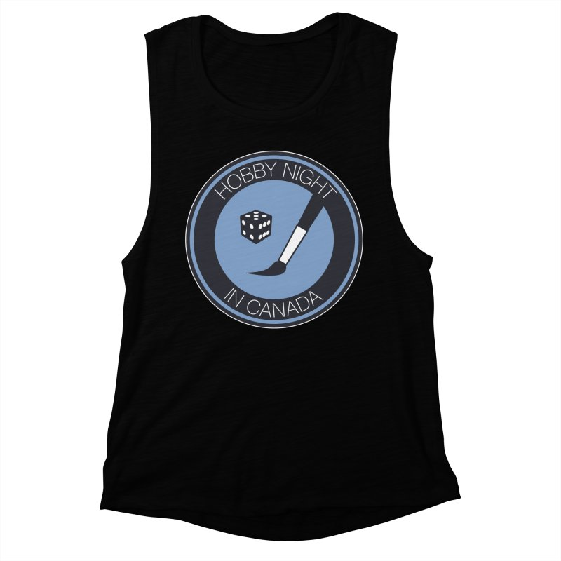 Hobby Night Logo Women's Muscle Tank by Hobby Night in Canada Podcast