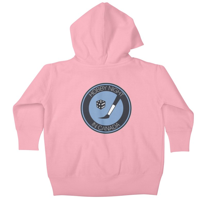 Hobby Night Logo Kids Baby Zip-Up Hoody by Hobby Night in Canada Podcast