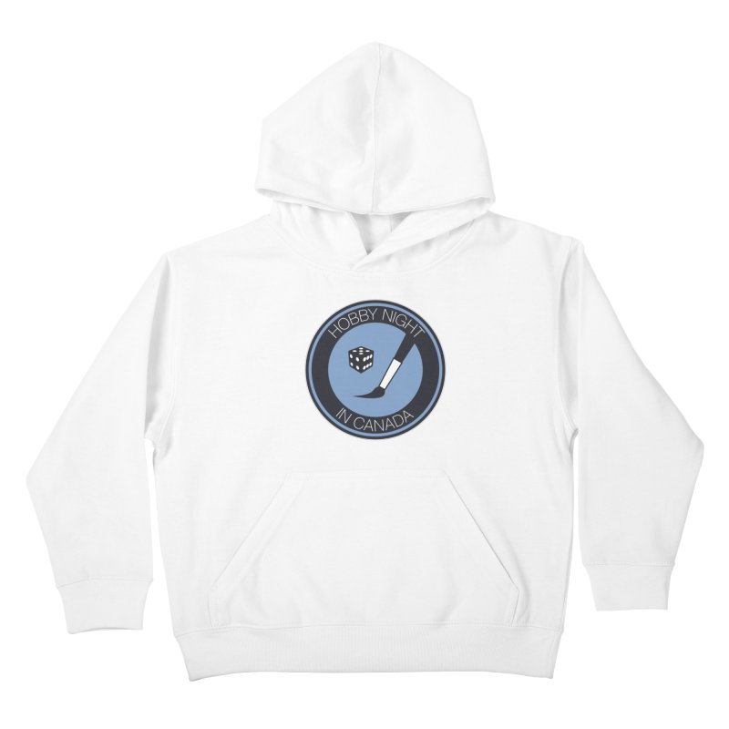 Hobby Night Logo Kids Pullover Hoody by Hobby Night in Canada Podcast