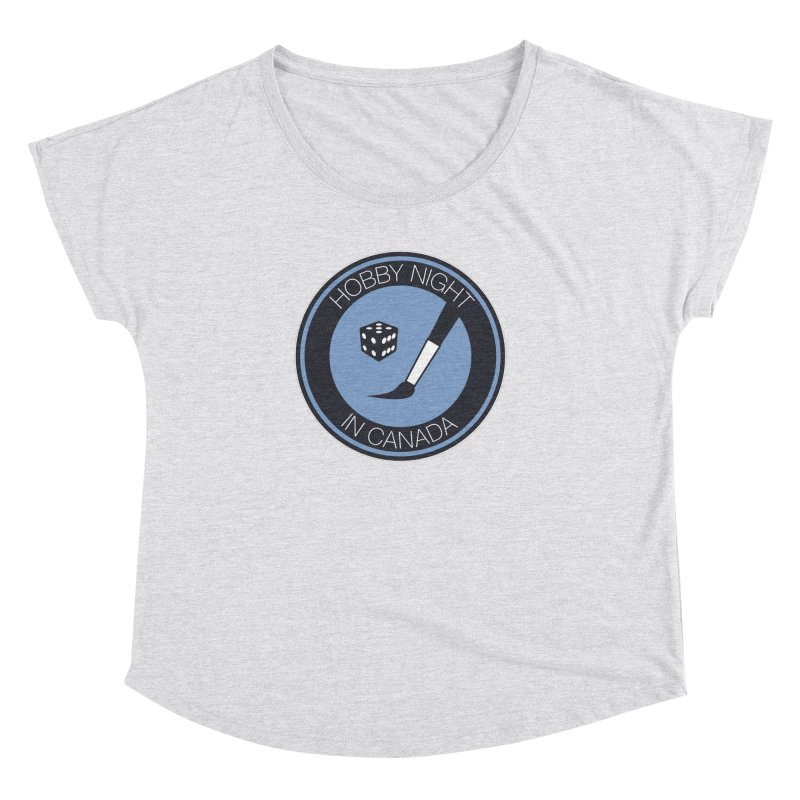 Hobby Night Logo Women's Dolman Scoop Neck by Hobby Night in Canada Podcast
