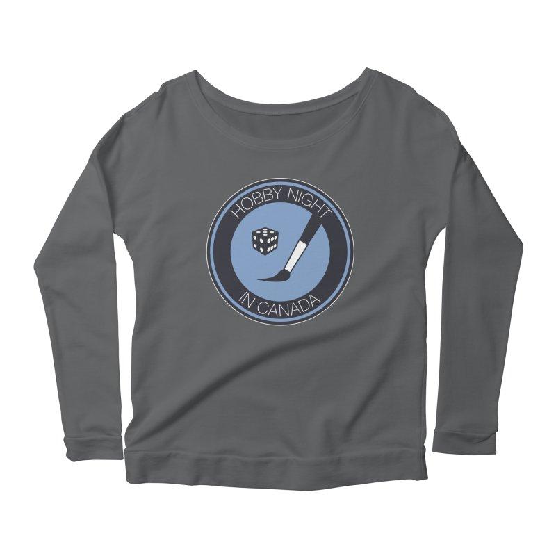 Hobby Night Logo Women's Longsleeve T-Shirt by Hobby Night in Canada Podcast