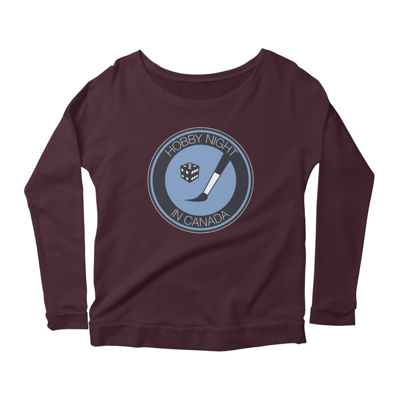 Hobby Night Logo Women's Scoop Neck Longsleeve T-Shirt by Hobby Night in Canada Podcast