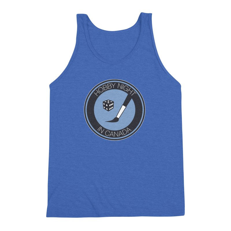 Hobby Night Logo Men's Triblend Tank by Hobby Night in Canada Podcast