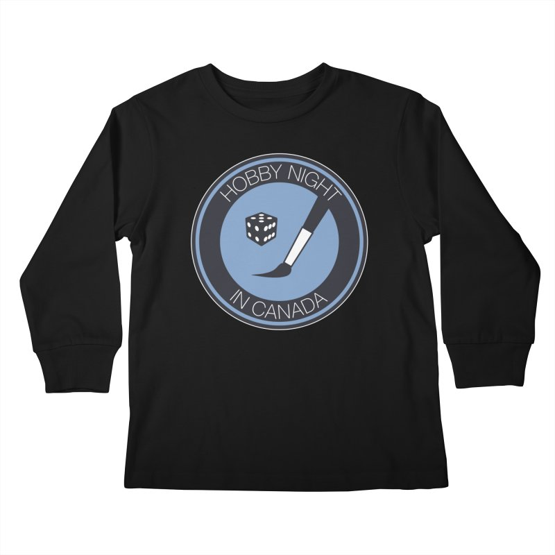 Hobby Night Logo Kids Longsleeve T-Shirt by Hobby Night in Canada Podcast