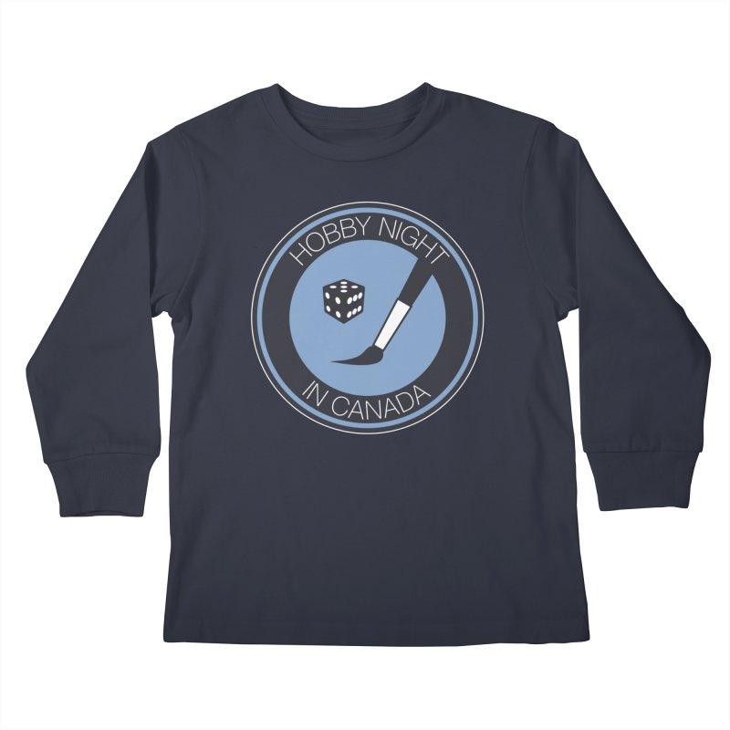 Hobby Night Logo Kids Longsleeve T-Shirt by Hobby Night in Canada Podcast