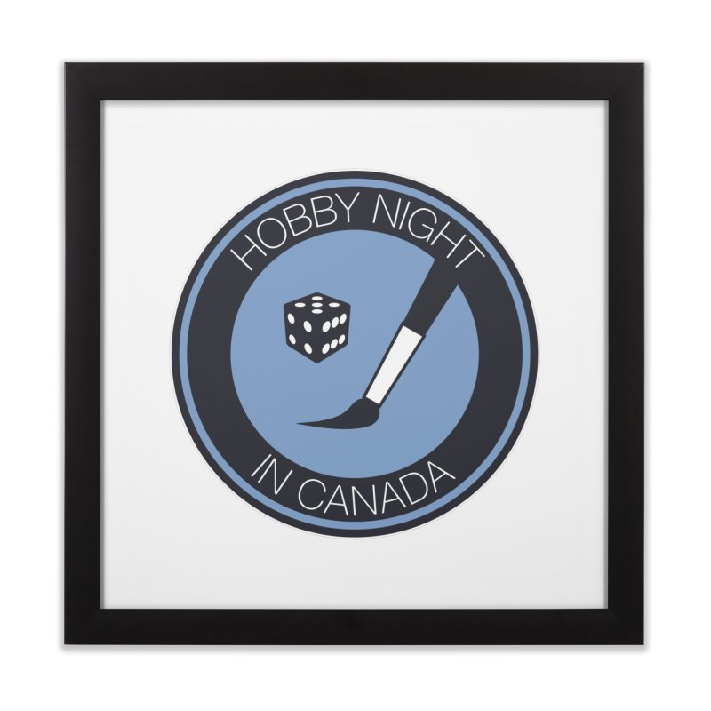 Hobby Night Logo Home Framed Fine Art Print by Hobby Night in Canada Podcast