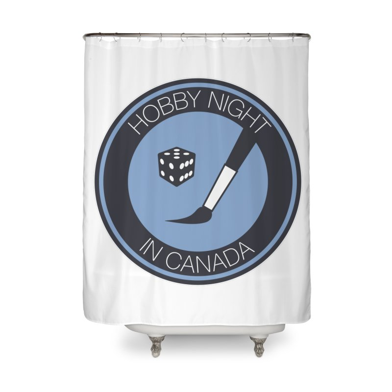 Hobby Night Logo Home Shower Curtain by Hobby Night in Canada Podcast