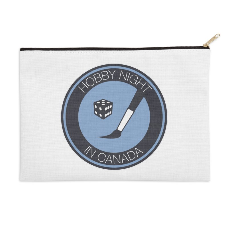 Hobby Night Logo Accessories Zip Pouch by Hobby Night in Canada Podcast