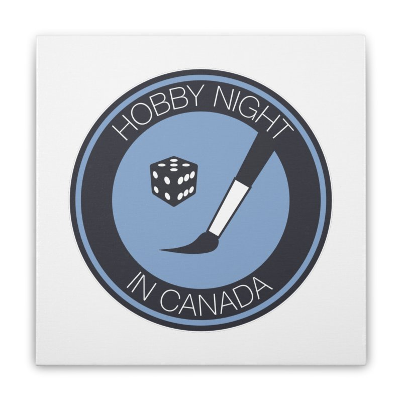 Hobby Night Logo Home Stretched Canvas by Hobby Night in Canada Podcast