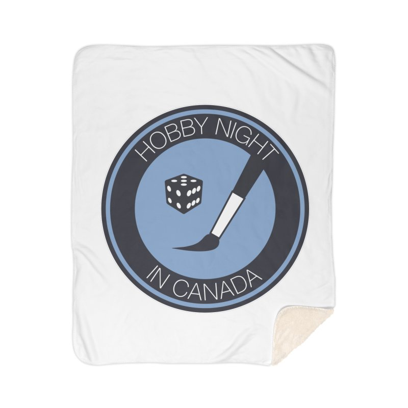 Hobby Night Logo Home Sherpa Blanket Blanket by Hobby Night in Canada Podcast