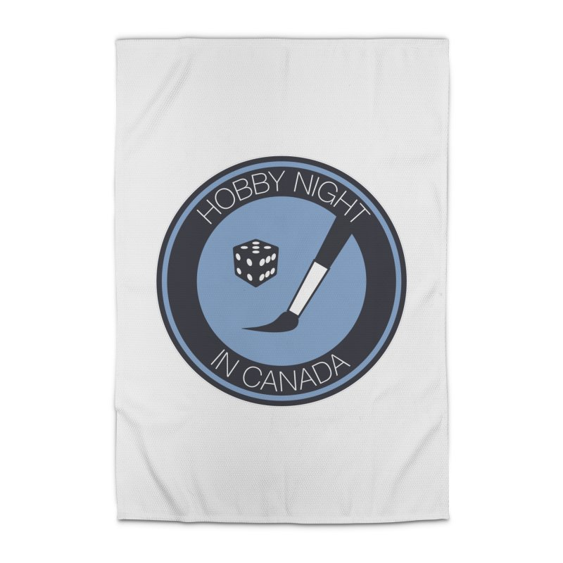 Hobby Night Logo Home Rug by Hobby Night in Canada Podcast